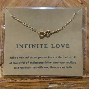 """Infinite love"" gold necklace"